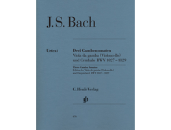 Bach J.S.: Three Gamba Sonatas BWV 1027-1029 edition for Gamba or Cello