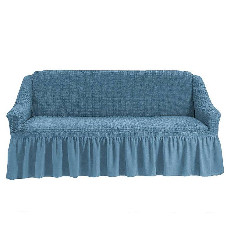 Чехол на диван, Серо-голубой 215