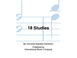 Gambaro: 18 Studies for Bassoon
