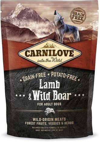 Сухой корм для собак Carnilove Lamb & Wild Boar for adult dogs 1,5 кг
