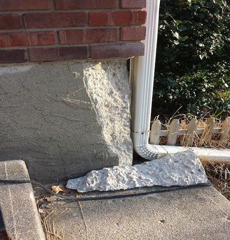 Скол бетона разуклонка керамзитобетоном