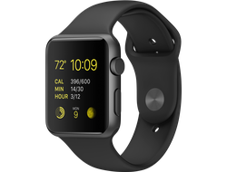 Apple Watch Series 1 38mm Space Gray Aluminium with Black Sport Band