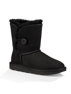 Kids Classic SHORT UGG BAILEY BUTTON BLACK