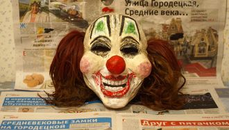 Маска Шона Крэхана Клоуна С волосами Слипкнот Маска Клоуна Слипкнот (Shawn Crahan Clown Slipknot mask)