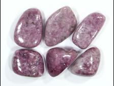 Лепидолит, галтовка  в ассортименте, Бразилия (25-35 мм, 11-13 г) №16676