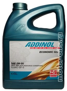 ADDINOL ECONOMIC 020 SAE 0W-20 (5_литров)