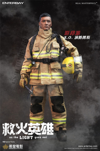 Пожарный КОЛЛЕКЦИОННАЯ ФИГУРКА 1/6 Fire Hero Shawn Yue Collection Action Figure Box RM1040 Enterbay