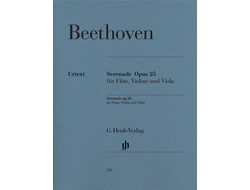 Beethoven Serenade D major op. 25 for Flute, Violin and Viola