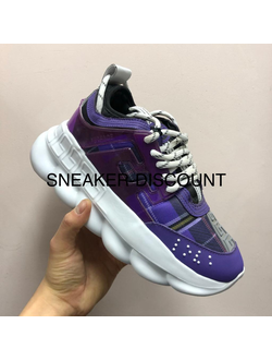 VERSACE CHAIN REACTION PURPLE WHITE ЖЕНСКИЕ