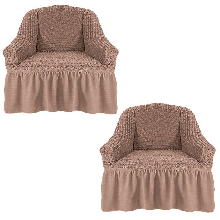 Чехлы на 2 кресла, Кофе с молоком 211