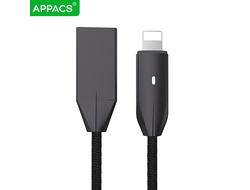 Кабель APPACS AP03198i, lightning (for iPhone), 5V/2.4A, 1.2 метра