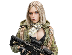 Коллекционная фигурка 1/12 - Девушка-солдат Villa - Palm Treasure Series 1/12 MC Camouflage Women Soldier Villa (VERYCOOL VCF-3004)