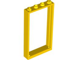 Door, Frame 1 x 4 x 6 with Two Holes on Top and Bottom, Yellow (60596 / 4561507 / 6262947)
