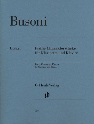 Busoni Early Character Pieces for Clarinet and Piano (First Edition)