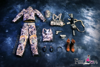 КОМПЛЕКТ ЭКИПИРОВКИ 1/6 Female Commando Viper Camo Set (FT003) - FeelToys (БЕЗ ТЕЛА И ГОЛОВЫ)