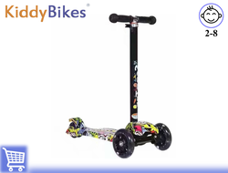 САМОКАТ SCOOTER SUPER (ГРАФФИТИ) Kiddy-bikes
