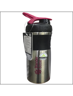 ШЕЙКЕР BLENDDERBOTTLE SPORT MIXER Stainless 28 OZ BLACK\pinc