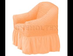 Чехол Стандарт на кресло, цвет Персиковый
