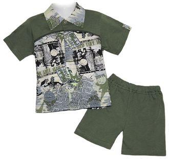 Комплект для мальчика (Артикул 2105-013) цвет хаки