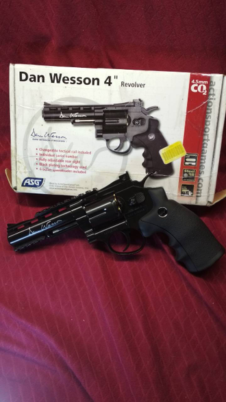 "Револьвер пневматический ASG Dan Wesson 4"" Black б.у. ПРОДАН!!!"
