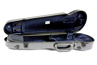 Кейс для скрипки Bam  Hightech Contoured Violin case - Black Carbon look