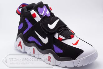 Кроссовки Nike Air Barrage Mid Black/White/Violet мужские арт. n705