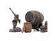 Wooden barrels set (painted)