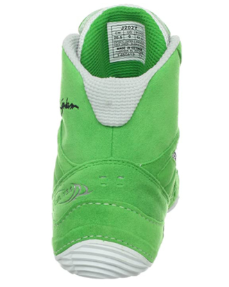 Борцовки Asics Cael V5.0 Electric Green/Black/White J202Y-7090 в зеленом цвете фото пятки