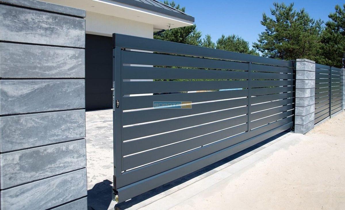 уличные ворота типа решетка - изготовление под заказ