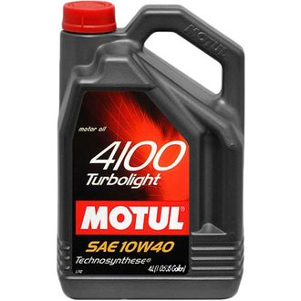 Масло моторное MOTUL 4100 Turbolight 10W-40 4л 100355