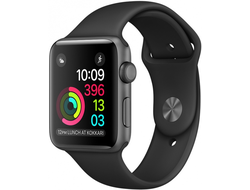 APPLE WATCH SERIES 3 38MM SPACE GRAY ALUMINIUM WITH BLACK SPORT BAND