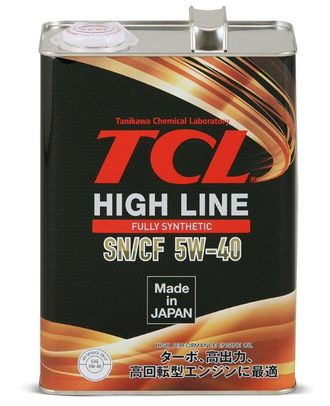 Масло моторное TCL High Line 5W-40 4л H0040540