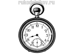 штамп полимерный Large pocket watch