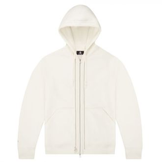 Худи Converse Utility Fleece Full Zip Layering Hoodie белое