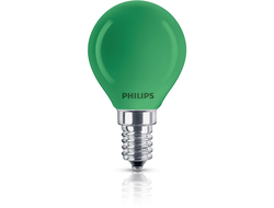 Philips Party Green 15w P45 220v E14