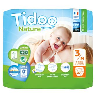Подгузники Tidoo Nature Размер 3/M (4-9 кг)