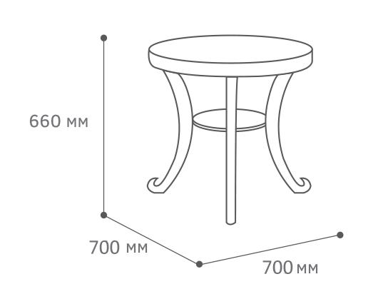 Стол Глория С размер