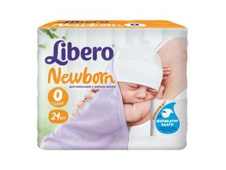 Подгузники Libero before newborn №0 (до 2,5 кг) по 24 шт.