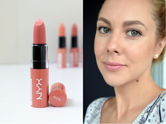 Масляная помада NYX Butter Lipstick 16 Sandy Kiss (Fun Size)