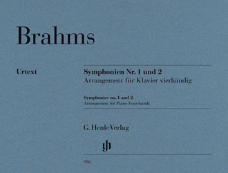 Brahms Symphonies nos. 1-2 Piano Four-hands reduction