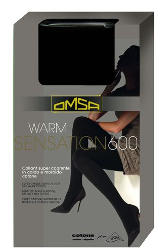 Omsa™ Warm Sensation 600 den 4=L (Nero)