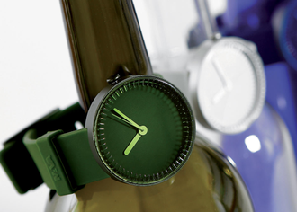 BOTTLE WATCH WINE GREEN 40 мм