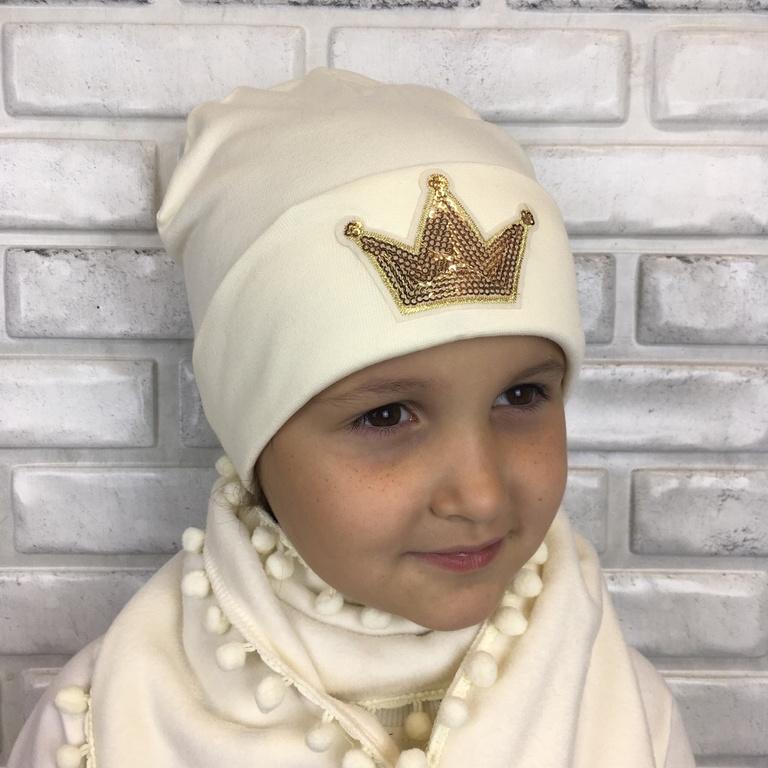 Арт. 900 Комплект утепленный с шарфиком для девочек