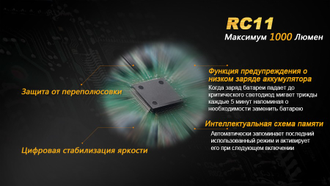 Фонарь Fenix RC11 Cree XM-L2 U2 LED