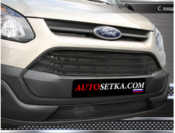 Premium защита радиатора для Ford Tourneo Custom (2014-2018) из 2-х частей