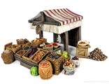 Vegetable market stall (painted)