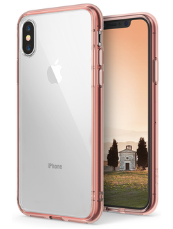 Чехол на Apple iPhone X, Ringke серия Fusion, цвет розовое золото (Rose Gold)