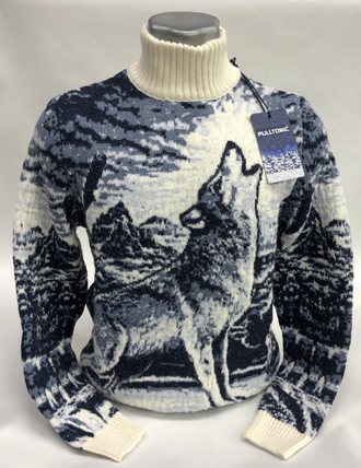 Свитер мужской волк воет на луну 304 купить в интернет ...