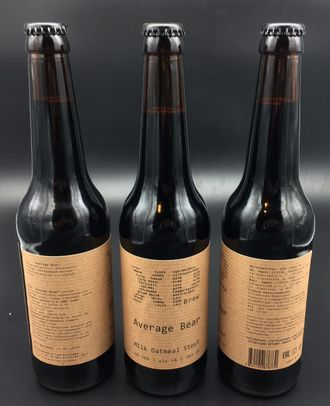 Фото пива XP Brew Average Bear Milk Oat Stout екатеринбург