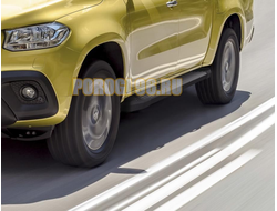Пороги для Mercedes-Benz X-Class (2017-) Black Start